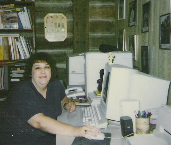 At my desk, 2004